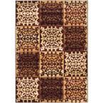 Crown Burgundy, Ivory 3 ft. 11 in. x 5 ft. 3 in. Area Rug, Red/Ivory