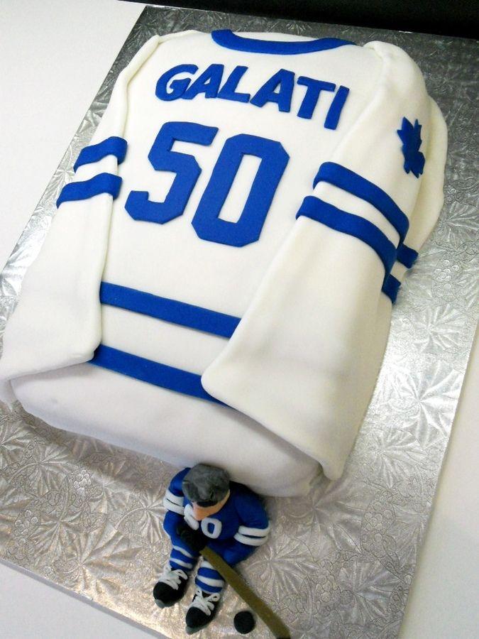 Hockey Jersey Cake Birthday Cakes Hockey Cakes Shirt Cake Hockey
