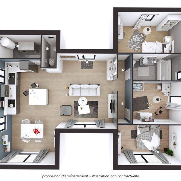Modèle de maison Samita -  Retrouvez tous les types de maison à - logiciel construire sa maison