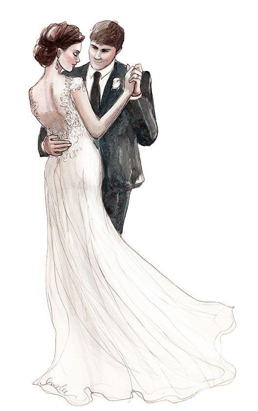 Line Drawing Wedding Couple : Wit weddings dance inslee print fashionably drawn