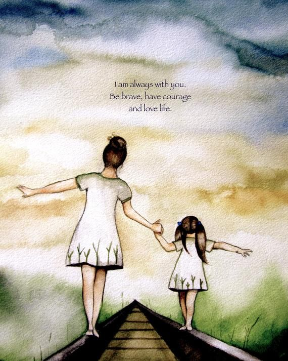 """Mother and Daughter """"Our Path"""" ~ Claudia Tremblay ~"""