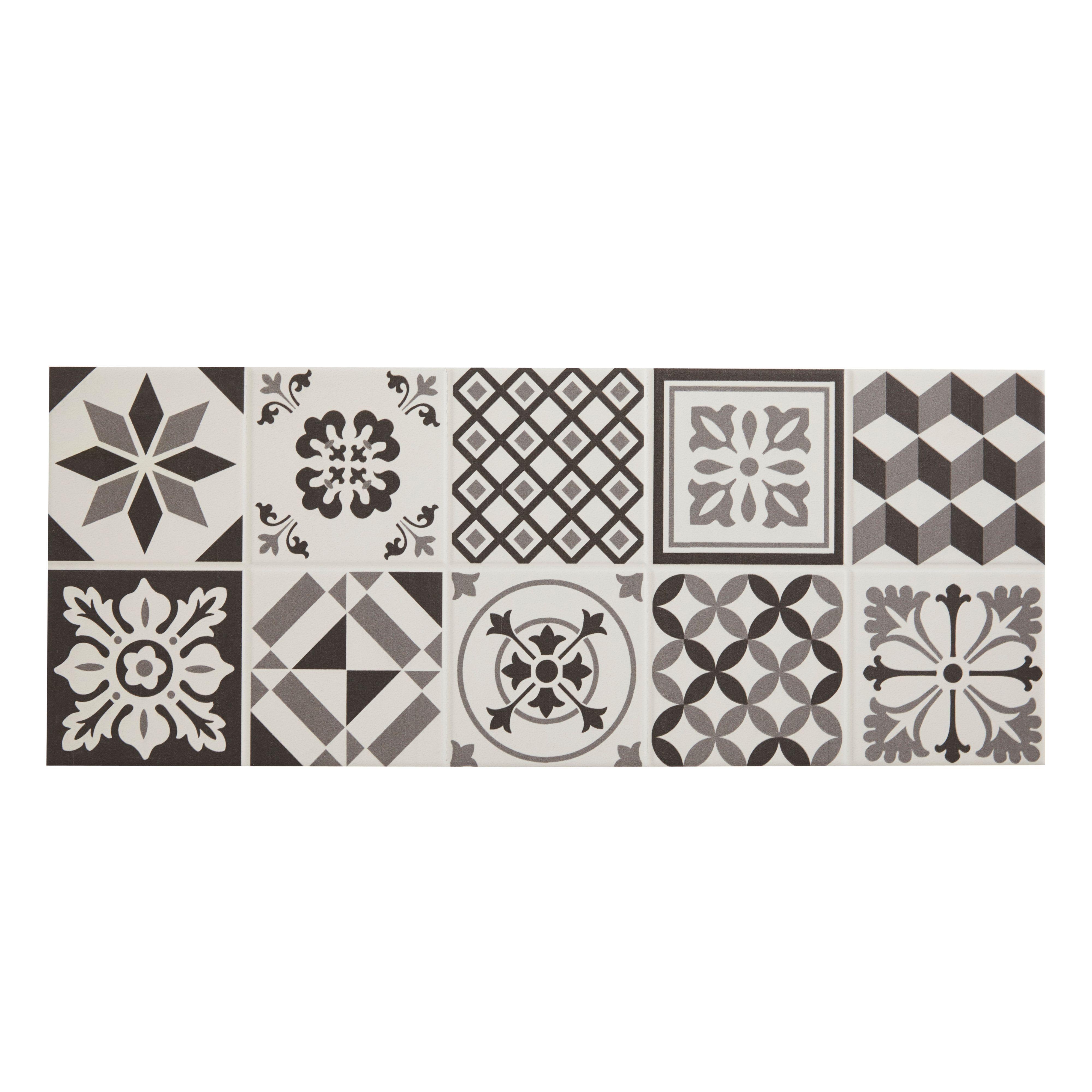 Konkrete Grey Matt Ceramic Wall Tile Pack Of 14 L500mm W200mm