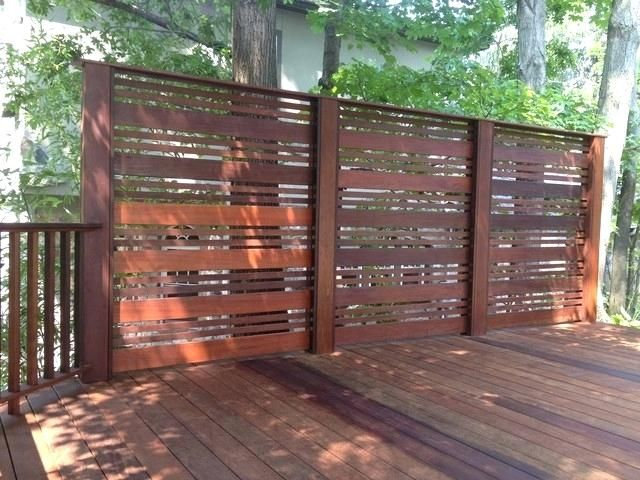 Wood Privacy Screen Designs Ipe Deck Traditional Deck Wood Privacy