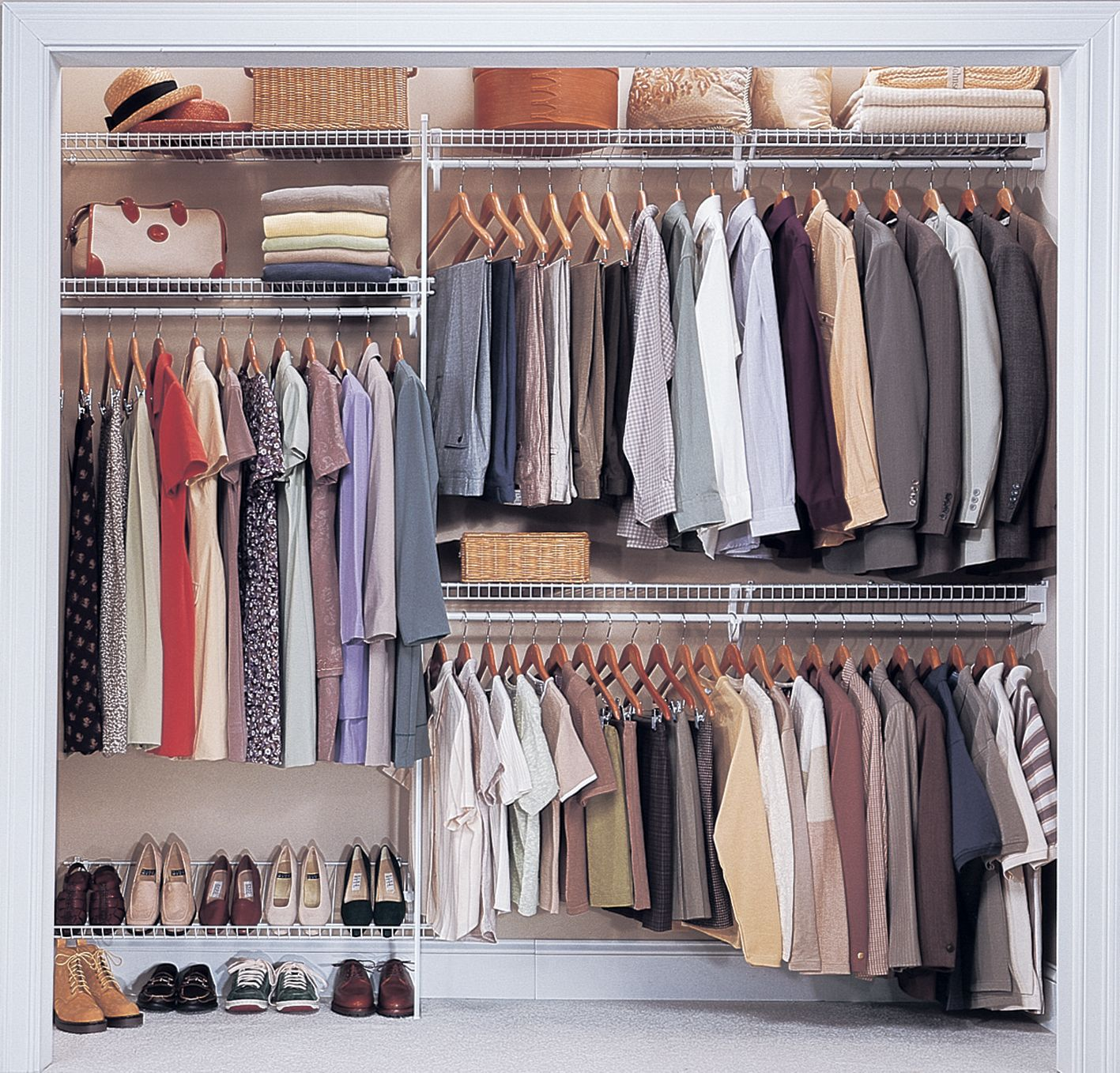 Reach In Closet Design Ideas reach in closet is there enough depth to do this on one side and is it an economical use of space closet pinterest closet Reach In Closet Ideas Google Search