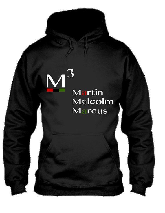 m3 hoodie martin luther king malcolm x marcus garvey by ytheg