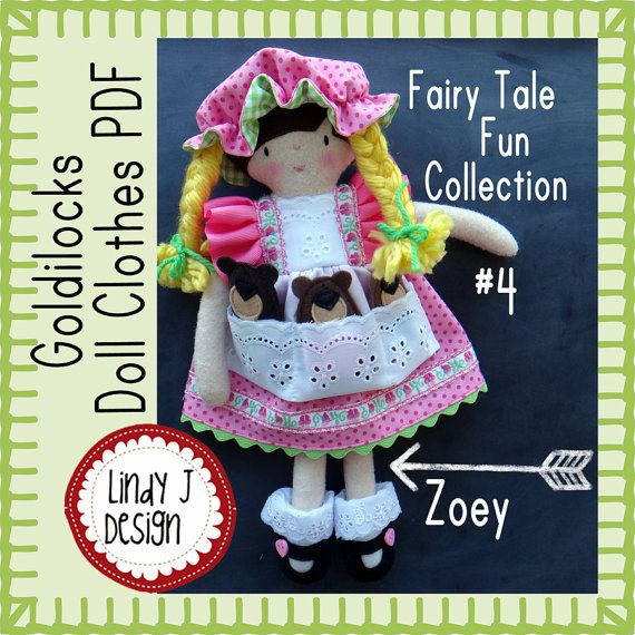 Felt DOLL Clothes Sewing PDF PATTERN Goldilocks Clothes Patterns for ...