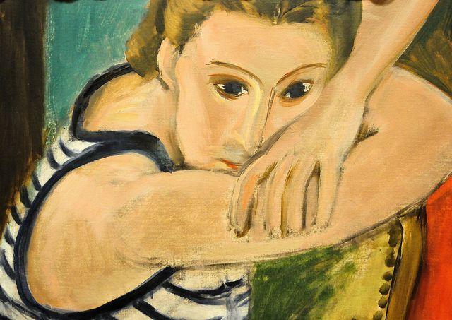 Henri Matisse - The Blue Eyes at Baltimore Art Museum  Henri Matisse - The Blue Eyes, 1935