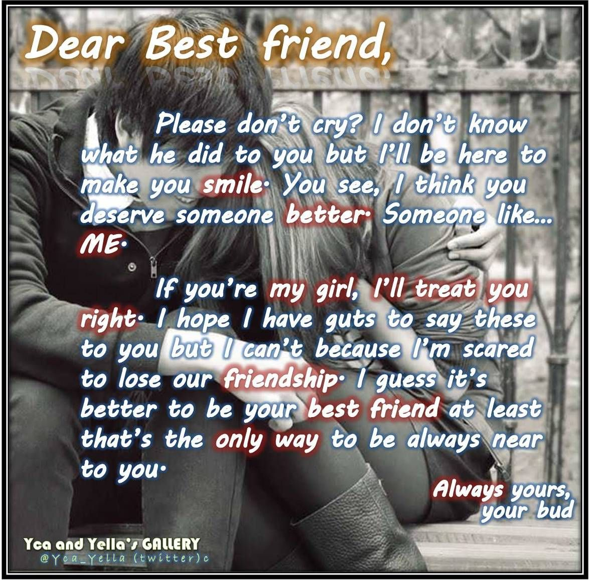 Boy Best FriendS Letter  Evol P    Wise Words
