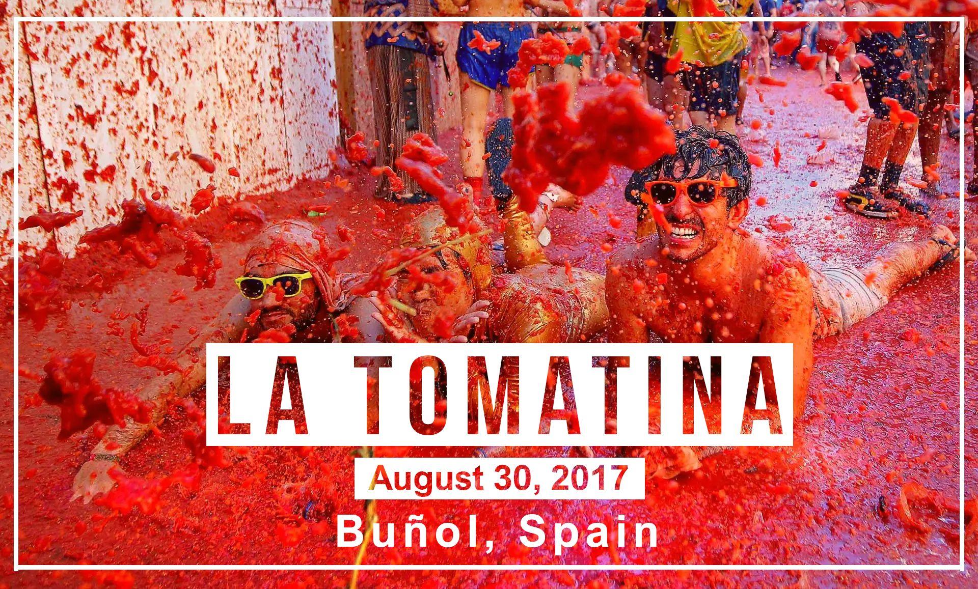 La Tomatina August 30th In Bunol Latomatina Bunol Spain Tomatofestival Globelink Travel