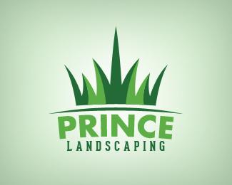 Prince Landscaping - Crown Logo Design | Inspiring Logo Design ...