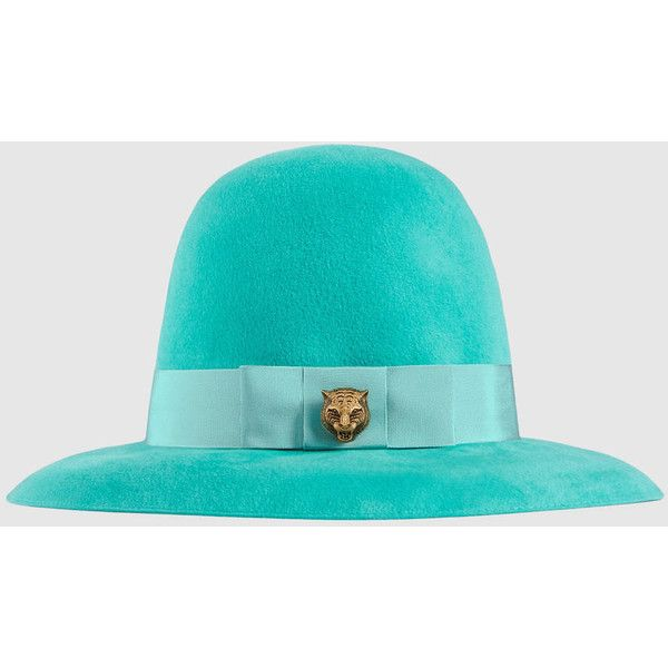 Gucci Velour Wide-Brim Hat ( 345) ❤ liked on Polyvore featuring  accessories 917b93d95a8