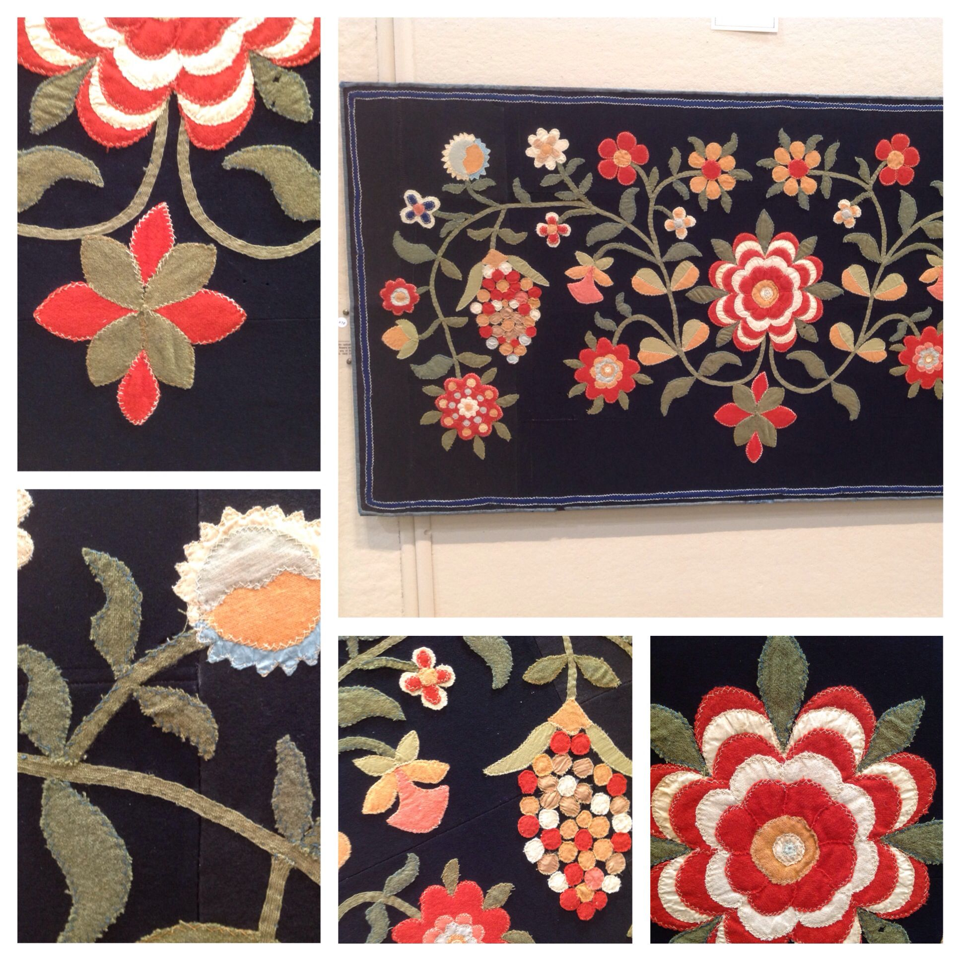Beautiful Example Of Early Wool Appliqué On Display At