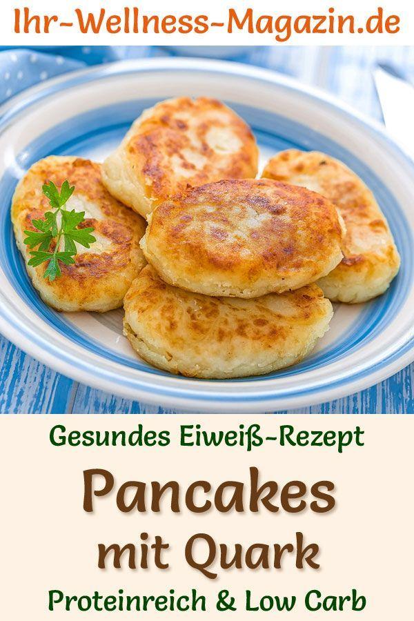 Protein-Pancakes mit Quark – Low-Carb-Eiweiß-Pfannkuchen-Rezept