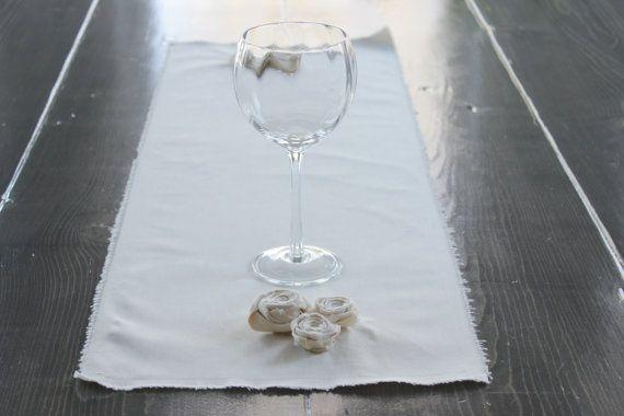 Organic Shabby Chic Table Runner {12 X 36 1/2} by ...