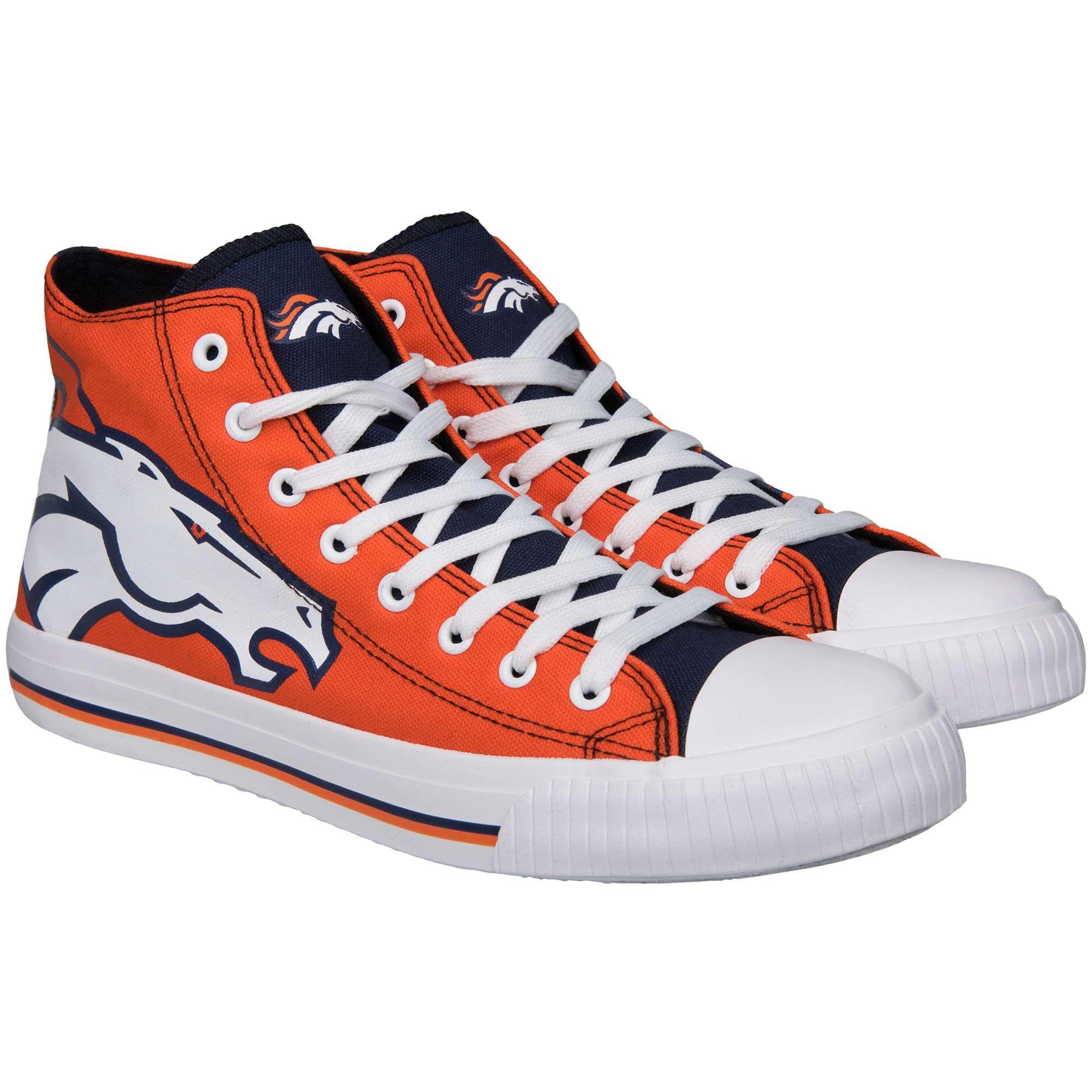 8611ff1f8e53bc NFL Denver Broncos Big Logo High Top Sneakers