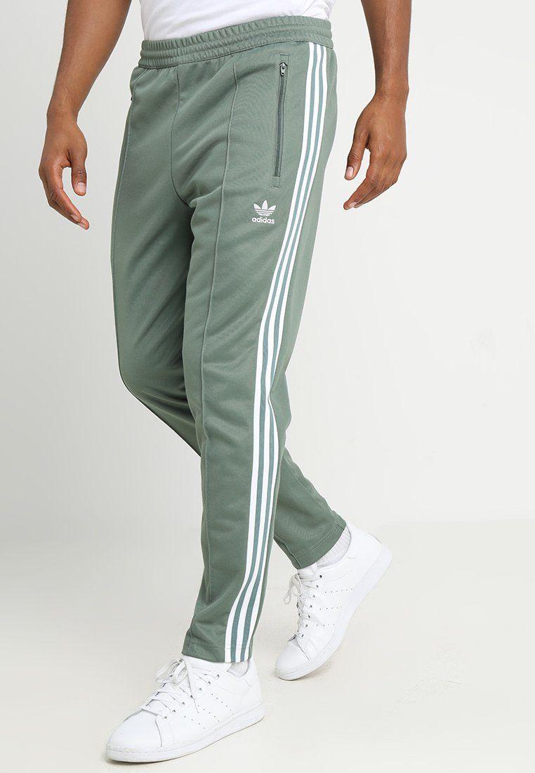 Adidas Originals Beckenbauer Tracksuit Bottoms Trace Green Zalando Co Uk Mens Pants Fashion Mens Workout Clothes Adidas Tracksuit Mens