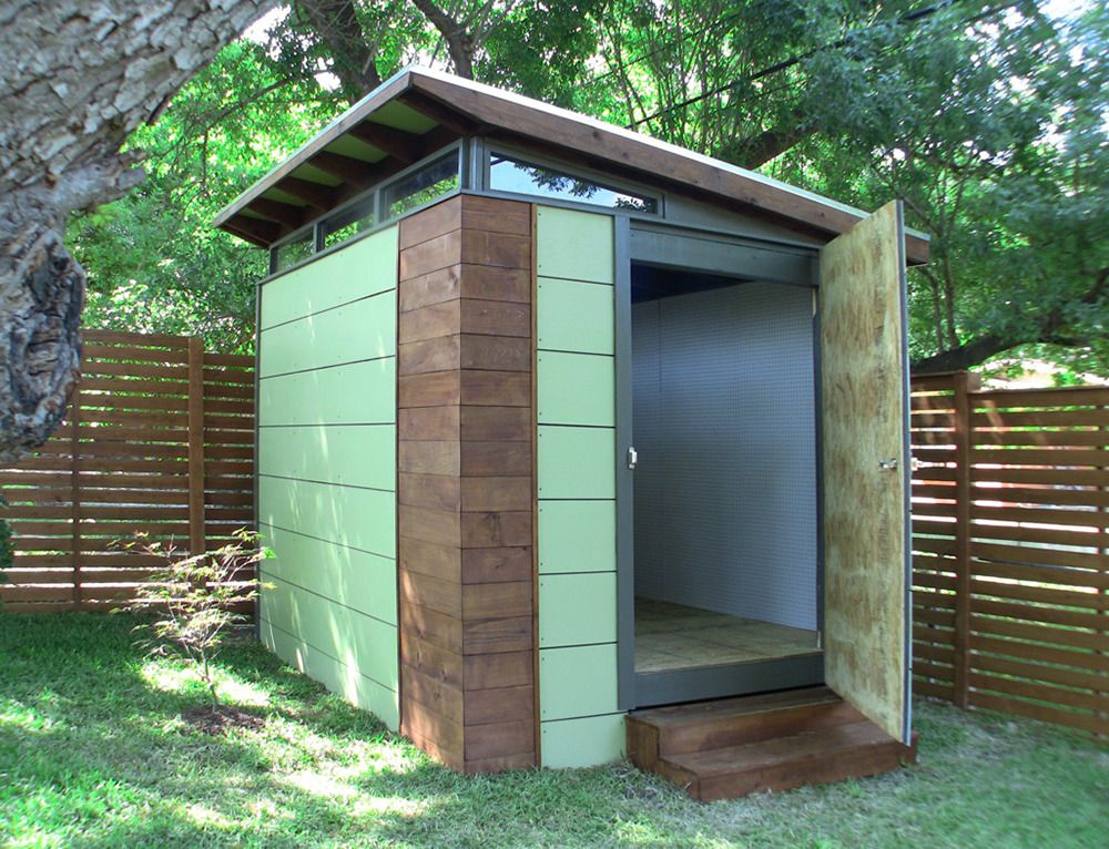 Customer gallery 10x12 modern outback series shed kanga for Prefab garden sheds