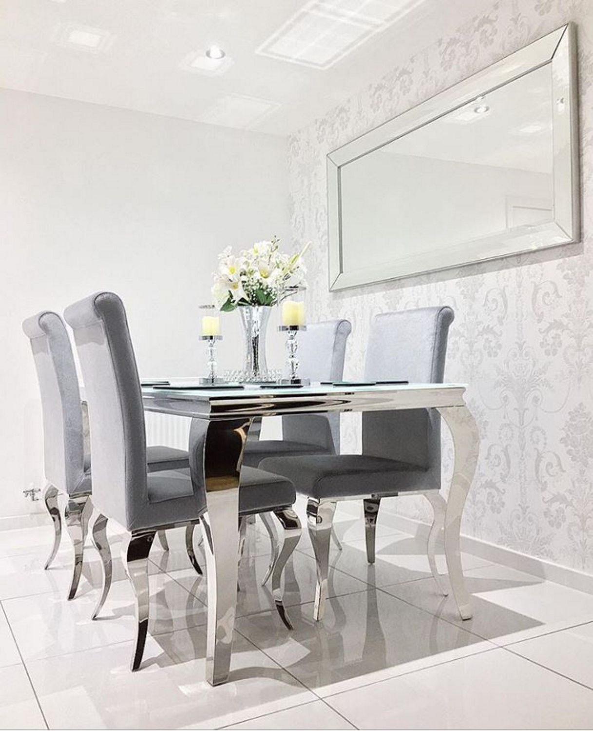 Instagram Ourhanburyhomeatno23x Louis 160cm White Dining Table