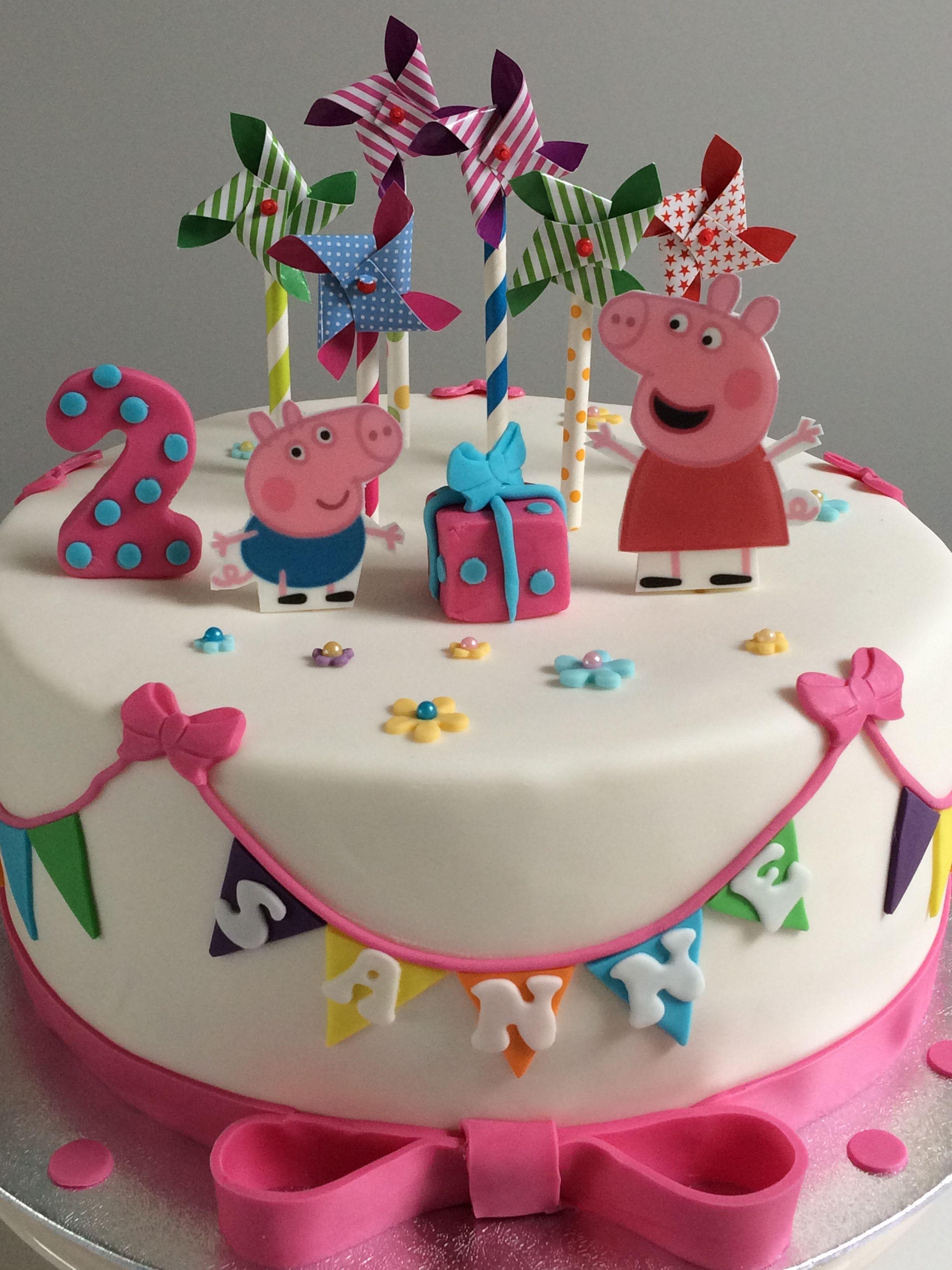 Peppe Pig Cake Peppa Big Taart Taart Ideeen Taart Verjaardagstaart