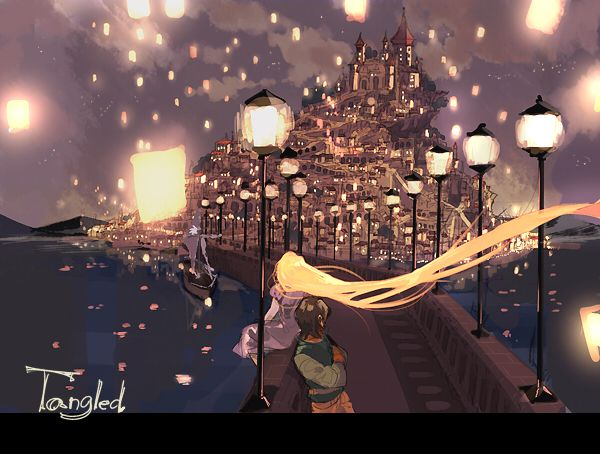 Tangled, I loved this scene of the movie, touching