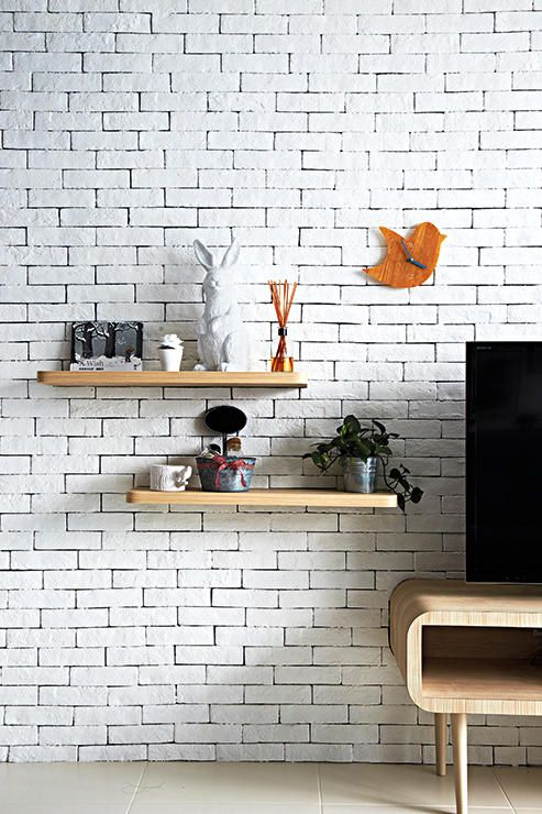 Home On Homeanddecor Com Sg Brick Wall Living Room White Brick Wall Living Room Scandinavian Dining Room