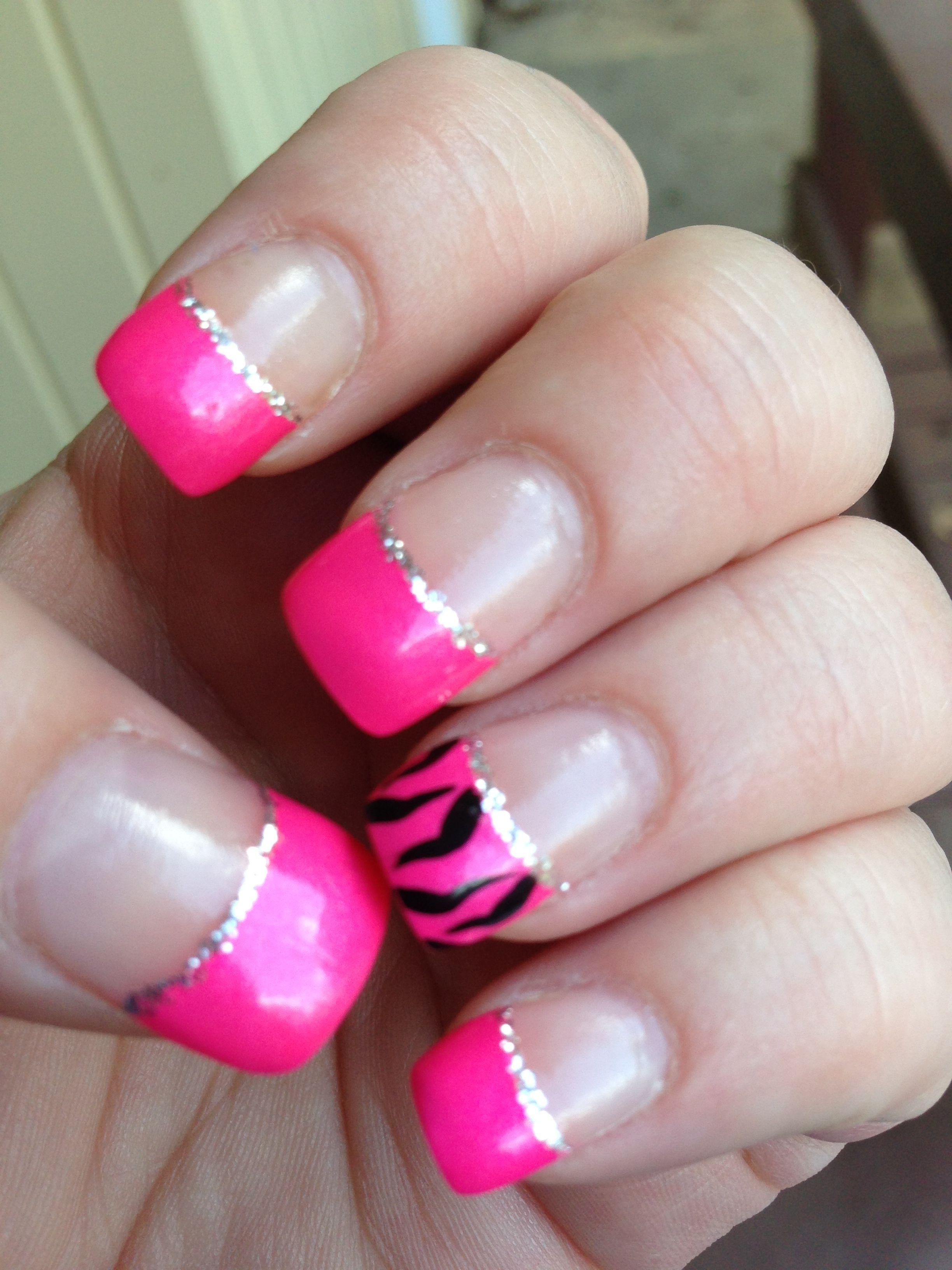 Hot Pink Zebra Nail Designs Topsimages