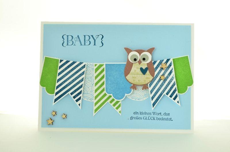 Baby- & Geburtskarten - Babykarte, großes Glück - ein Designerstück von Angela-Halle bei DaWanda