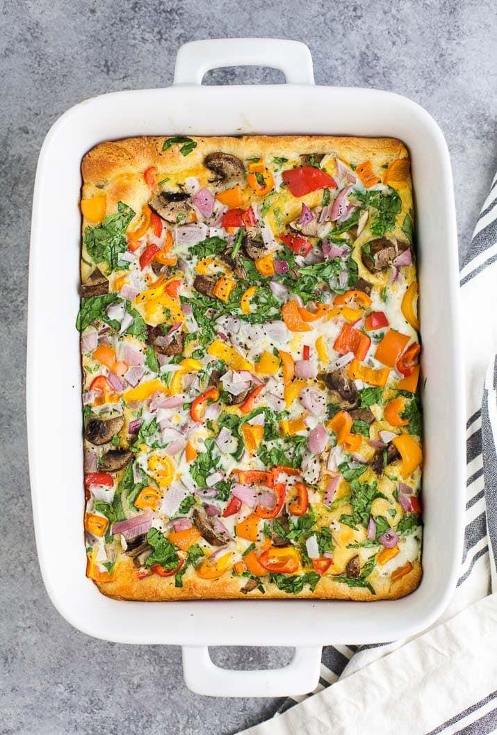 Egg White Vegetable Breakfast Casserole images