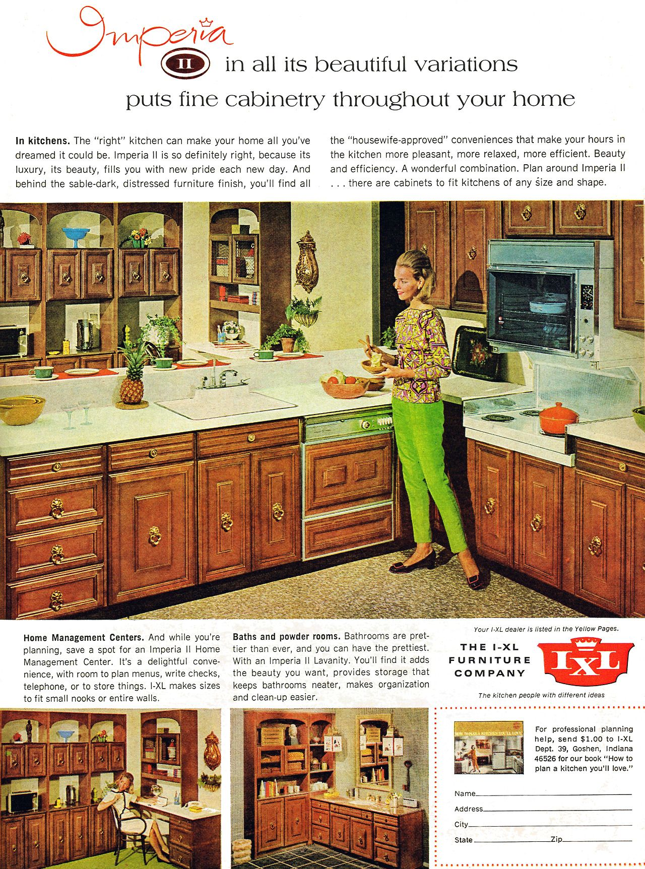 Imperia Ii Kitchen Cabinets By I Xl Furniture Company 1968 Retro Kitchen Vintage Kitchen Vintage Appliances