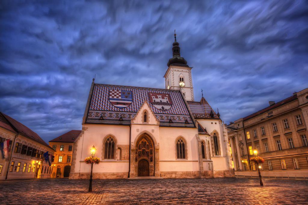 A Stormy Night In Zagreb Zagreb Croatia Zagreb Croatia