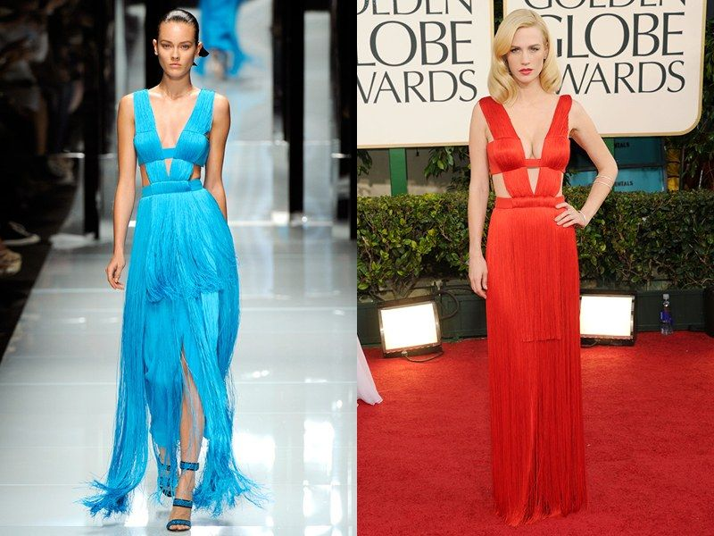 Revisiting the Runway Debuts of 17 Iconic Golden Globe Looks