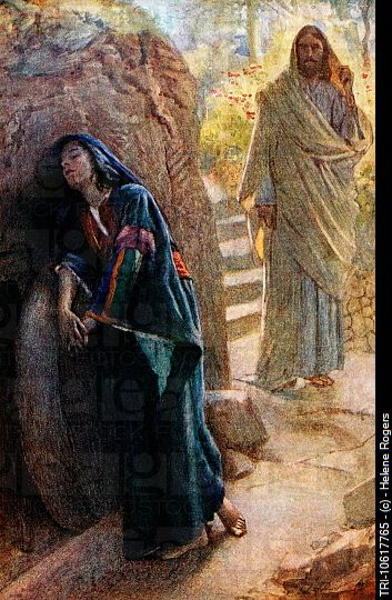 """Johanna at the Tomb."" It turns out that ""Johanna"" (Joanna) was among the last to leave the side of #JesusChrist at the Crucifixion; she was among the first to see the empty tomb, and witness His #Resurrection. #SaintJohanna was one of the women who Jesus specifically asked to become one of his disciples. The feast day of St. Johanna is May 24th. #Spirituality #Easter #Lent"