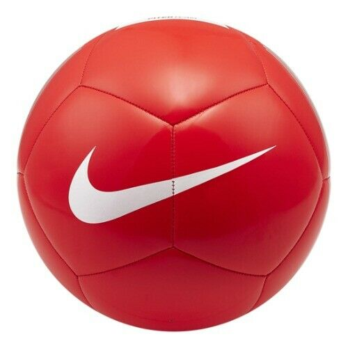 Details About Nike Pitch Team Soccer Football Ball Red White Sc3992 610 Size 4 5 Soccer Red White Football