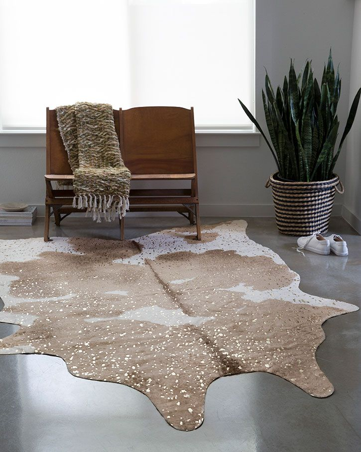 Loloi Ii Bryce Bz 06 Taupe Champagne Area Rug Faux Cowhide Area Rug Faux Cowhide Cow Hide Rug