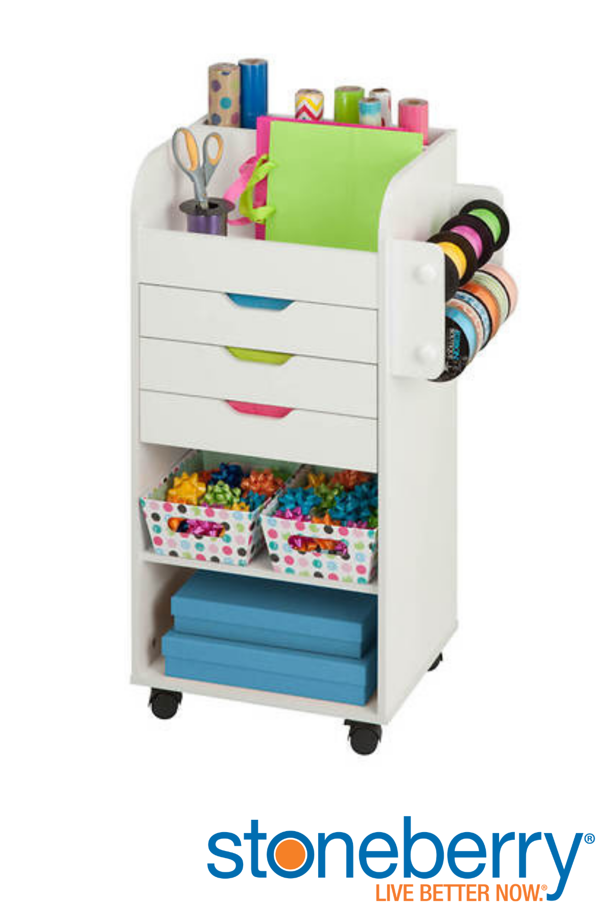 Honey Can Do Rolling Arts Crafts Storage Cart Craft Storage Cart Craft Storage Arts And Crafts Storage