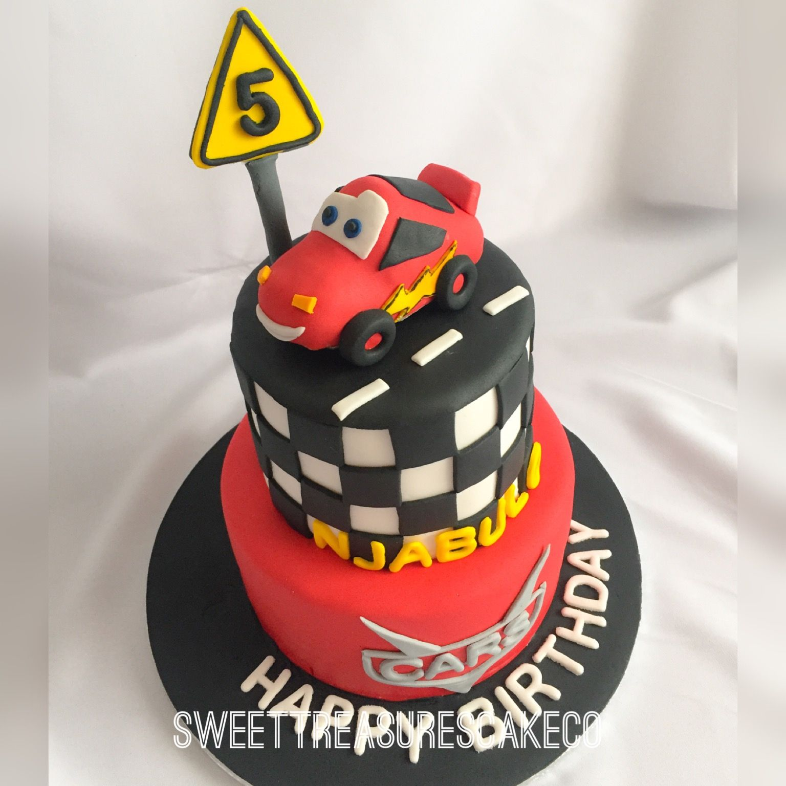 cars birthday cake for Njabulo who turned 5 Inside is