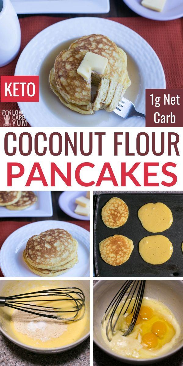 Fluffy Coconut Flour Pancakes (Keto, Low-Carb)