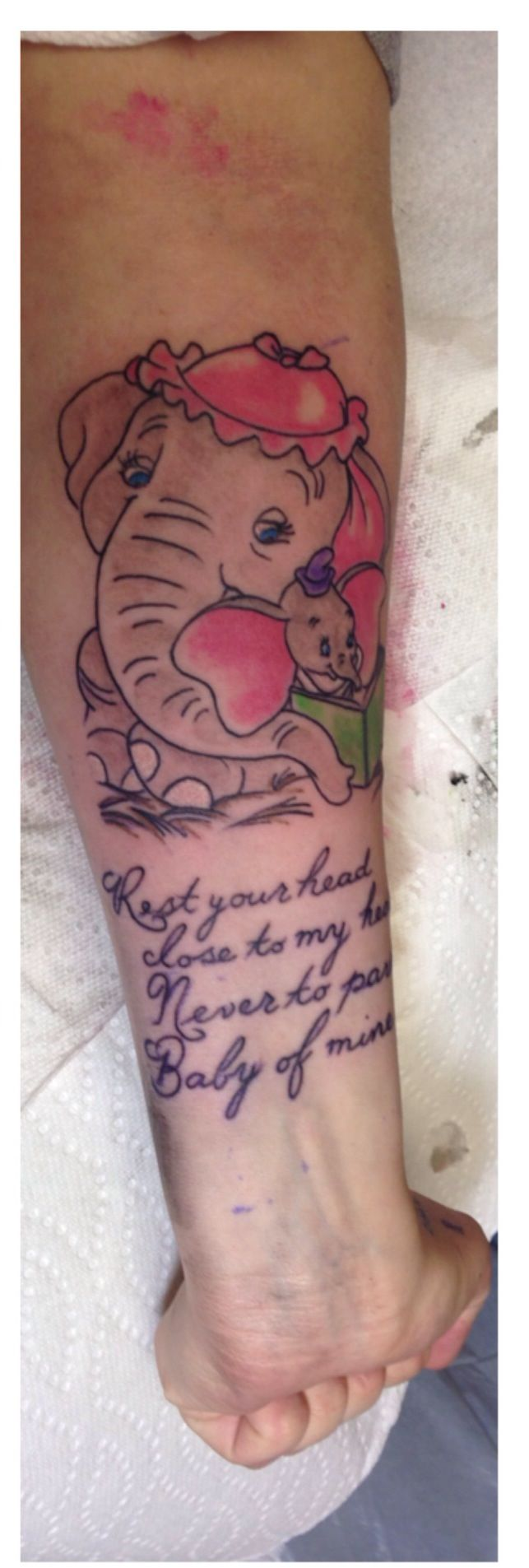 Dumbo tattoo artist credit kimmy jane at express for Tattoos to express love