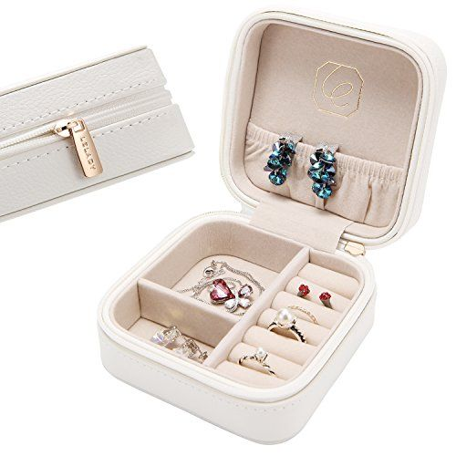 LELADY Small Jewelry Box Portable Travel Jewelry Case Org https