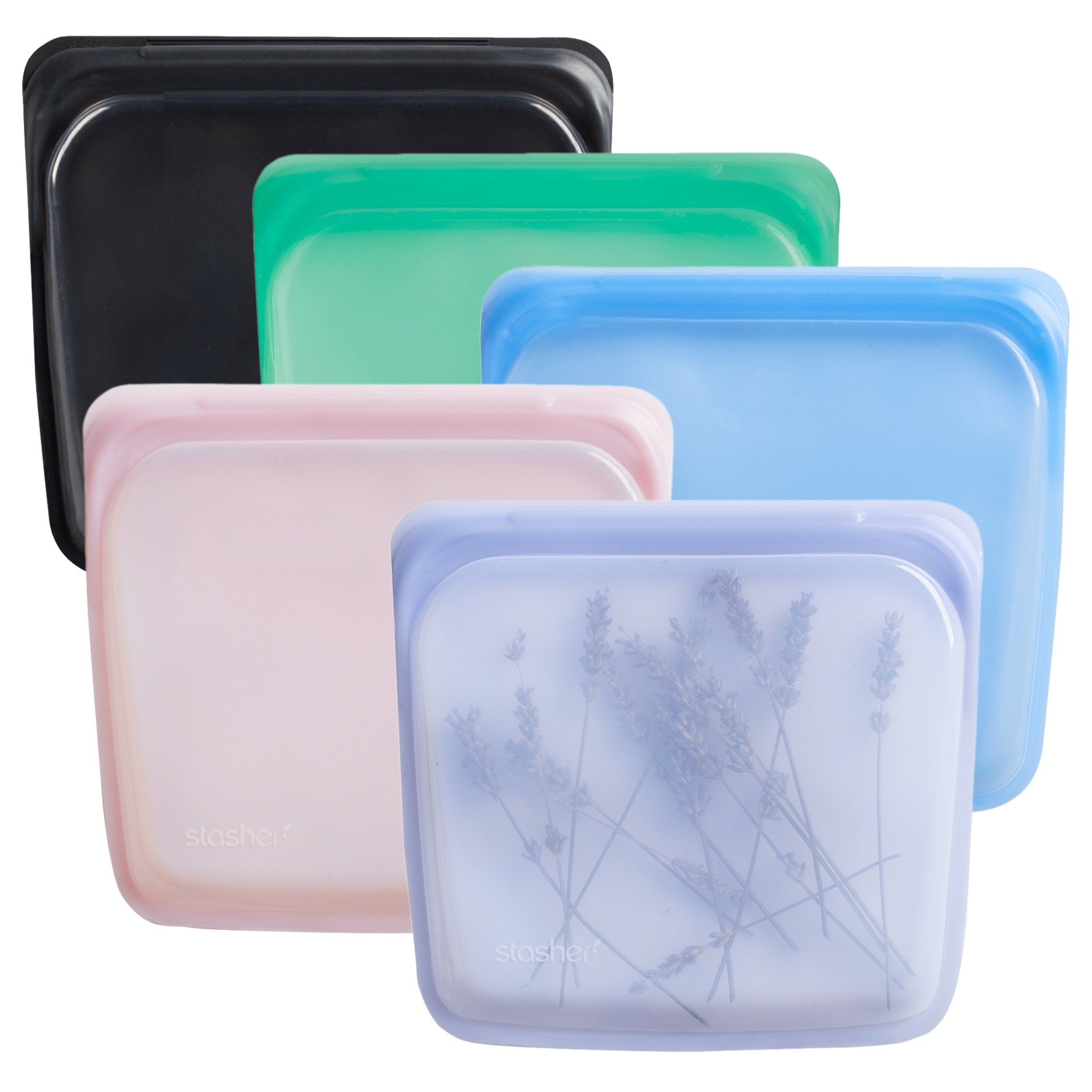 Reusable Silicone Storage Bags Multi Pack Gems