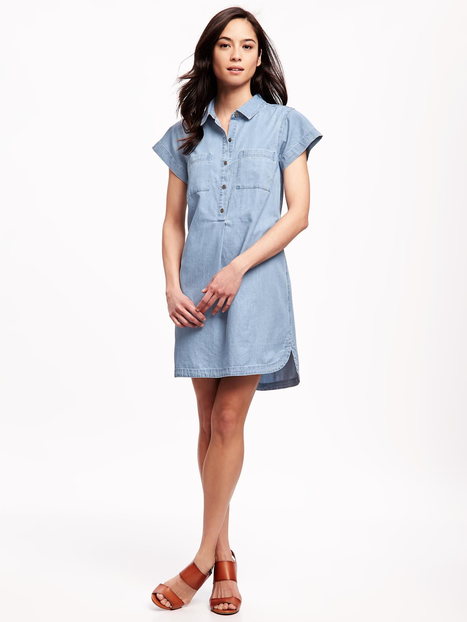a2ffac99365 Chambray Shirt Dress for Women