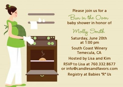 Bun In The Oven Neutral   Baby Shower Invitations | Products, Babies And Shower  Invitations