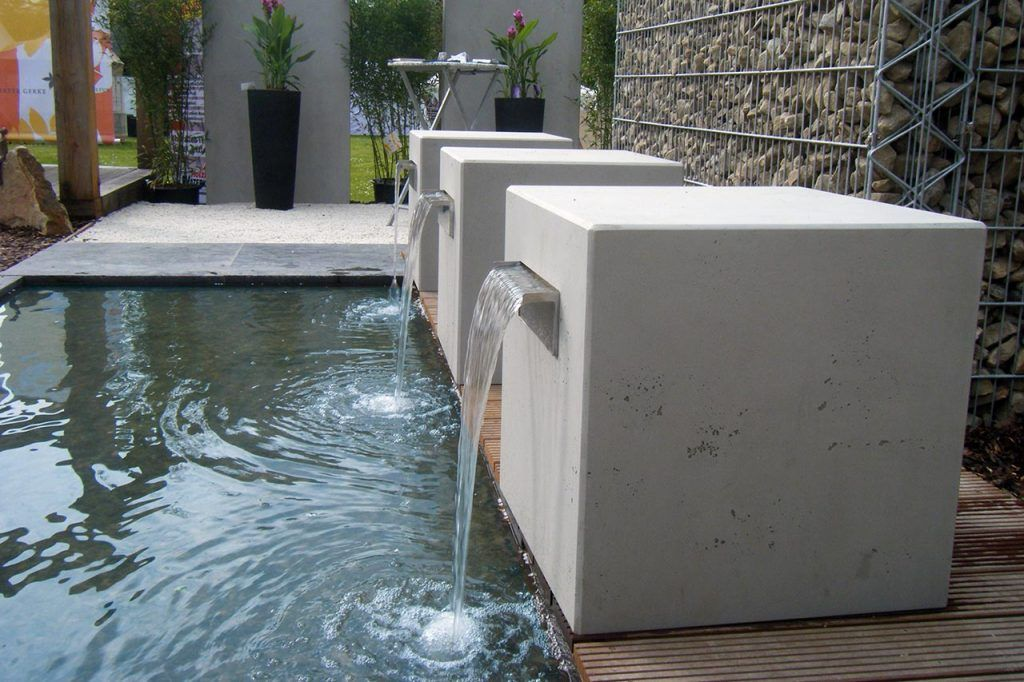 Beton Gartenbrunnen Betonoptik Modern Tend Design Brunnen Aus Beton Gartenbrunnen Wasserbecken Steinbrunnen Garten