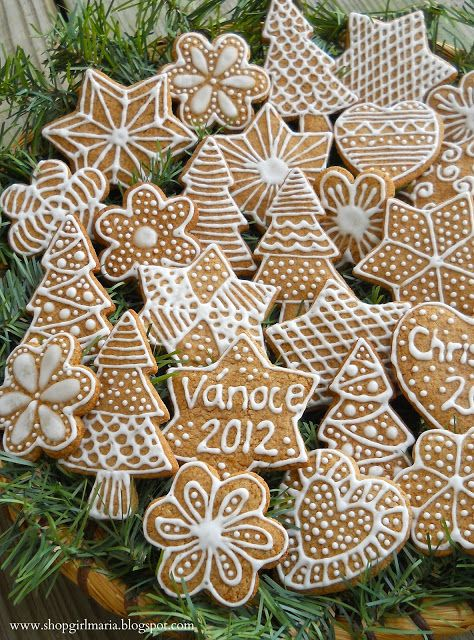 Shopgirl Traditional Czech Christmas Gingerbread Cookies A