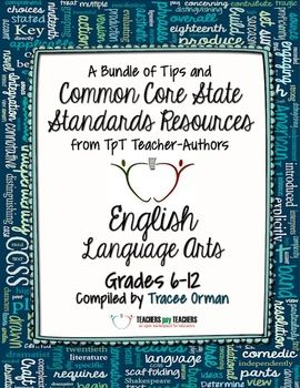 English language arts free back to school ebook grades 6 12 tpt tpt free common core state standards ela ebook resource filled with classroom tips and freebies to start the new school year grades 6 12 fandeluxe Images