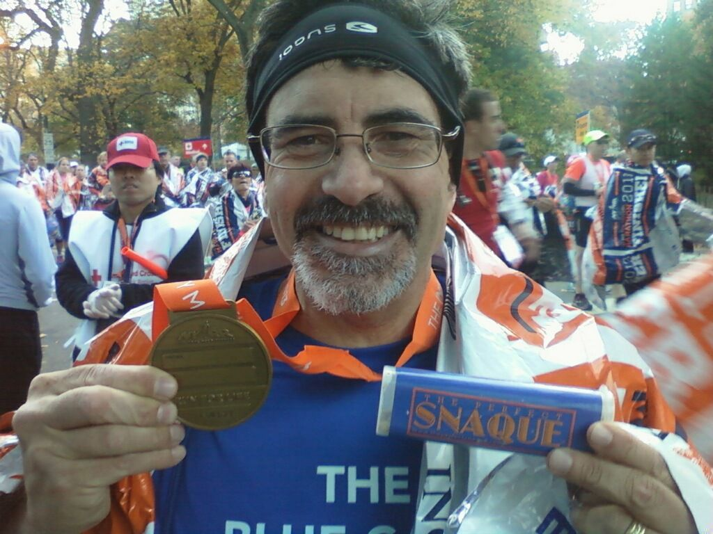 Finished the Marathon, Shared pictures throughout the day, hosted a radio show, and raised more money and awareness for The Blue Card than the original goal. A very good day.