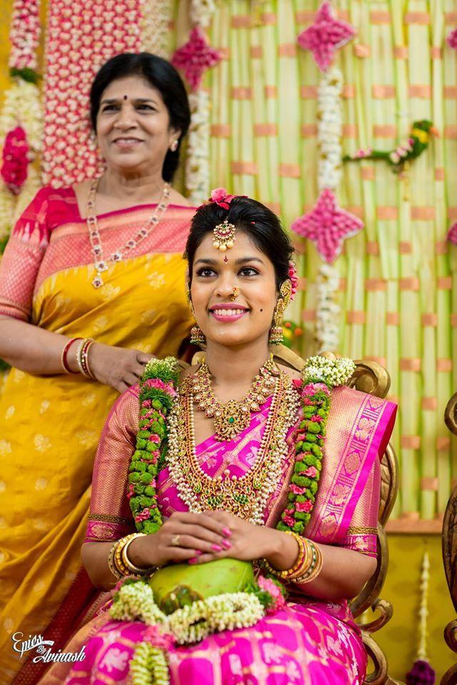 Srija Pellikuturu Ceremony | Jewellery | Bridal jewelry, Wedding