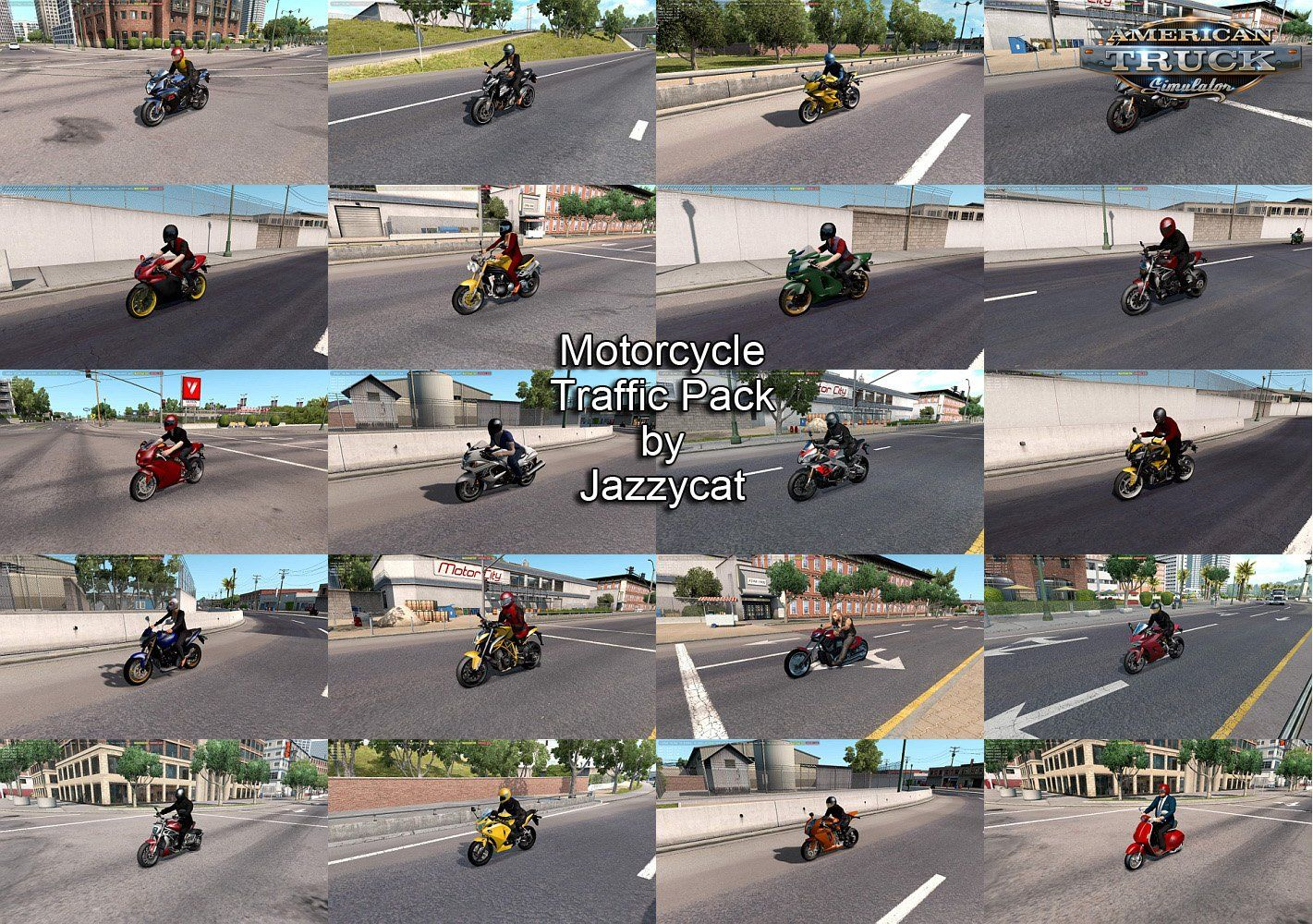 Motorcycle Traffic Pack v3 0 by Jazzycat (1 35 x) for ATS
