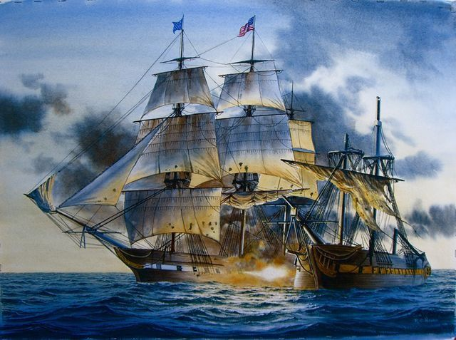 USS Constitution in the War of 1812 Парусники ПарусныеUss Constitution 1812