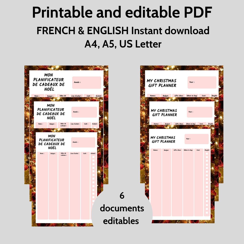 Christmas Planner Printable Christmas T Planner
